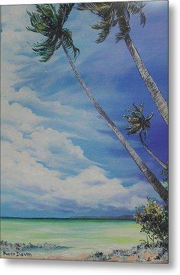 Nylon Pool Tobago. Metal Print by Karin  Dawn Kelshall- Best