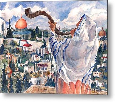 O Jerusalem Metal Print by Barbara Jung