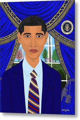Obama Cares 44th President  Metal Print