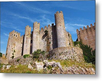 Obidos Castle Metal Print by Carlos Caetano