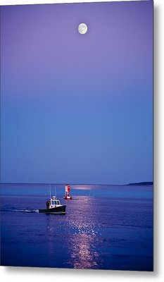 Ocean Moonrise Metal Print by Steve Gadomski