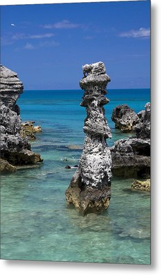 Ocean Rock Formations Metal Print