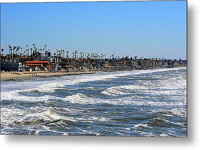 Metal Print featuring the photograph Oceanside by AJ Schibig