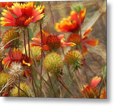 October Flowers 2 Metal Print by Ernie Echols