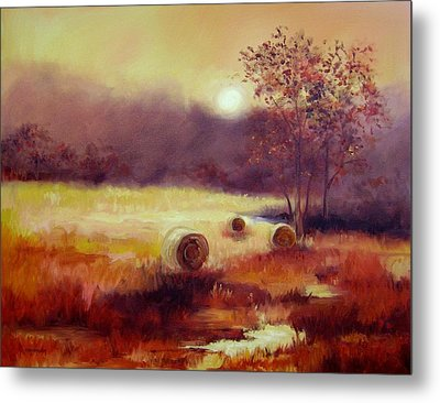 October Pasture Metal Print by Ginger Concepcion