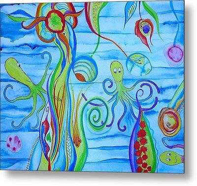 Octopus' Garden Metal Print by Erika Swartzkopf