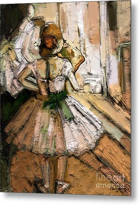 Metal Print featuring the painting Ode To Degas by Carrie Joy Byrnes
