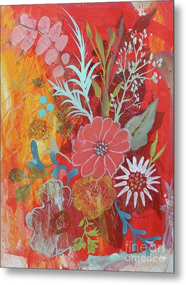 Metal Print featuring the painting Ode To Spring by Robin Maria Pedrero