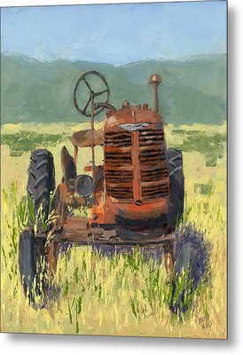 Offset High Crop Metal Print by David King