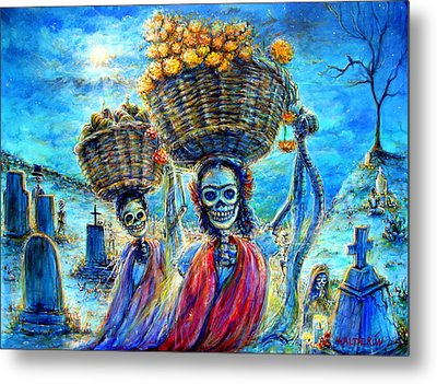 Metal Print featuring the painting Ofrendas by Heather Calderon