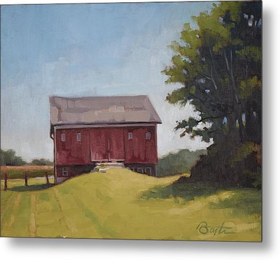 Ohio Red Barn Metal Print by Todd Baxter