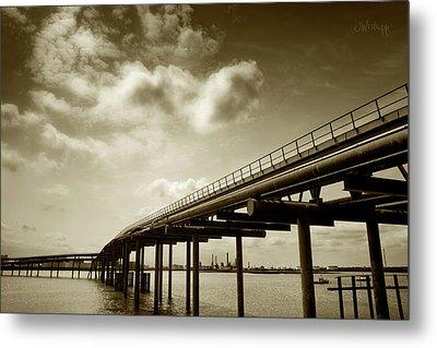 Oil Bridge II Metal Print by Joseph Westrupp