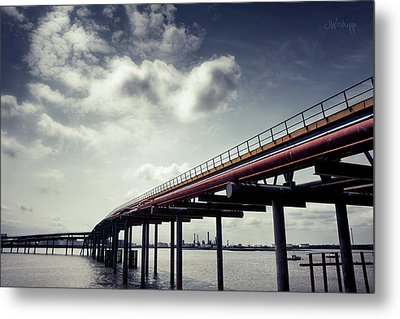 Oil Bridge Metal Print by Joseph Westrupp