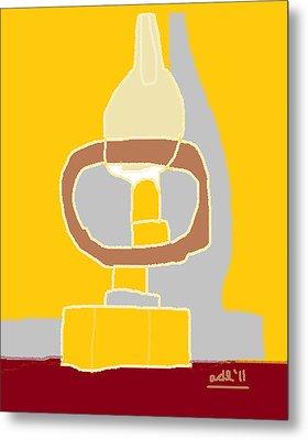 Oil Lamp Metal Print
