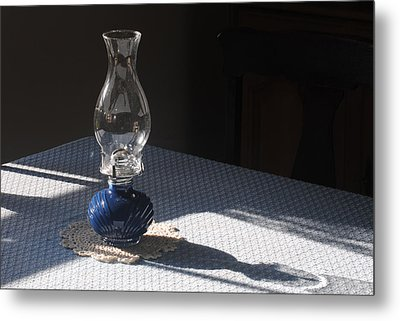 Oil Lamp Metal Print by Steven Scott