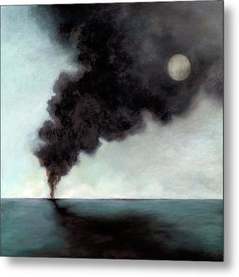 Oil Spill 3 Metal Print by Katherine DuBose Fuerst