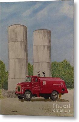 Oil Truck Metal Print