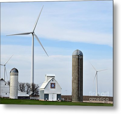 Old And New Farm Site Metal Print by Kathy M Krause