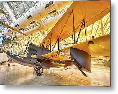 Metal Print featuring the photograph Old Army Biplane by Lara Ellis
