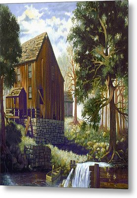 Old Barn At Riverbend Metal Print by Donn Kay