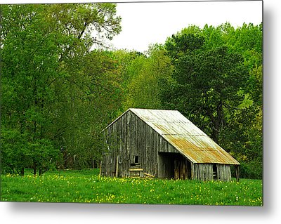 Old Barn V Metal Print