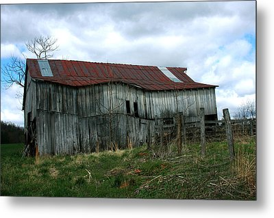 Old Barn Xiii Metal Print by Emanuel Tanjala
