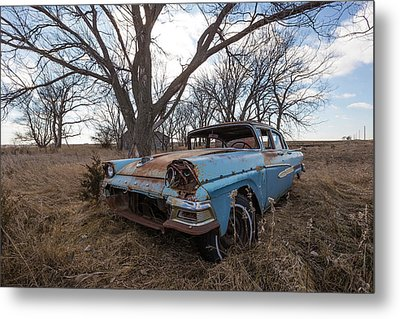 Metal Print featuring the photograph Old Blue by Aaron J Groen
