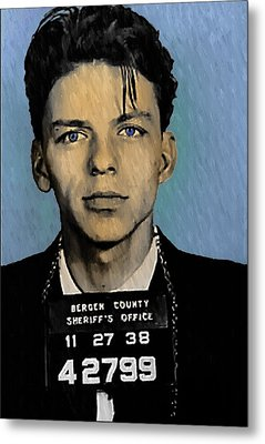 Old Blue Eyes - Frank Sinatra Metal Print by Bill Cannon