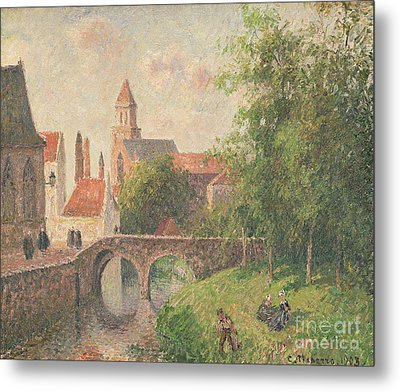 Old Bridge In Bruges  Metal Print by Camille Pissarro