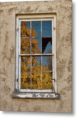 Metal Print featuring the photograph Old Broken Window by Michael Flood