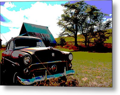 Old Car Metal Print by Jean Evans