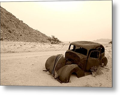 Metal Print featuring the photograph Old Car by Riana Van Staden