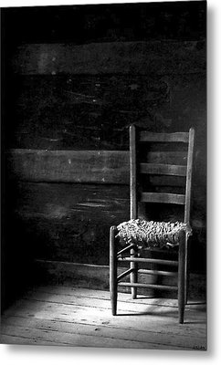 Old Chair Metal Print by Fred Wilson