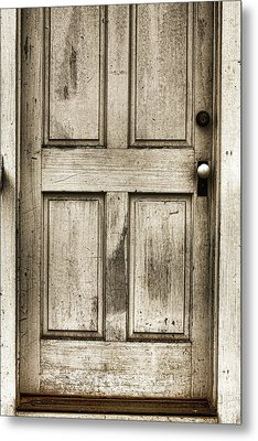 Old Church Door Metal Print by Bonnie Bruno