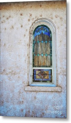 Old Church Window Metal Print by Andrea Hazel Ihlefeld