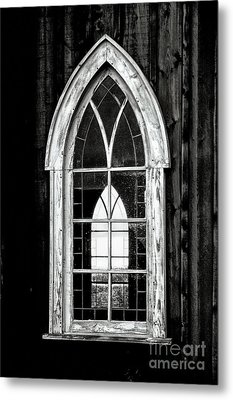 Metal Print featuring the photograph Old Church Window by Brad Allen Fine Art