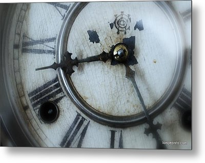 Old Clock Face Metal Print by Lois Lepisto