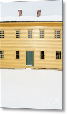 Old Colonial Era Period House In Winter Metal Print by Edward Fielding