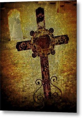 Old Cross Metal Print by Perry Webster