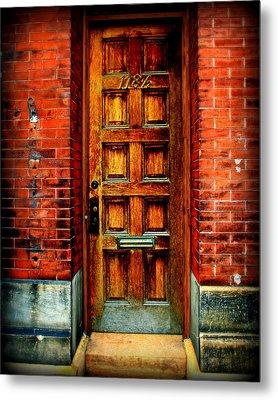 Old Door Metal Print by Perry Webster