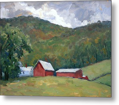 Old Farm Berkshires Metal Print by Thor Wickstrom