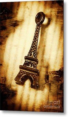 Old Fashion Eiffel Tower Souvenir Metal Print by Jorgo Photography - Wall Art Gallery