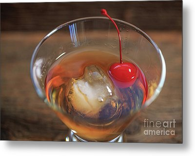 Old Fashioned Cocktail Metal Print by Edward Fielding