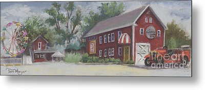 Old Firehouse Winery  Metal Print by Terri  Meyer