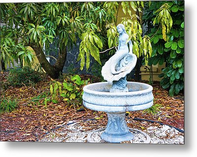 Old Fountain Metal Print