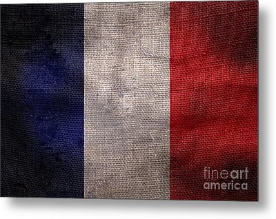 Old French Flag Metal Print