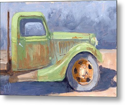Old Green Ford Metal Print by David King