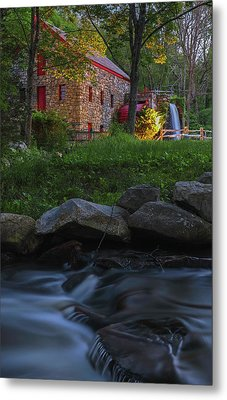 Metal Print featuring the photograph Old Grist Mill At Wayside Inn Historic District by Juergen Roth