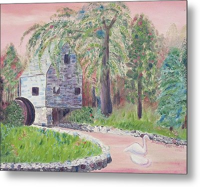Old Grist Mill Metal Print by Suzanne  Marie Leclair