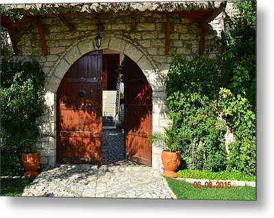 Old House Door Metal Print by Nuri Osmani